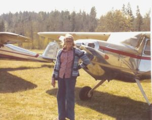 barb-with-her-cessna-140